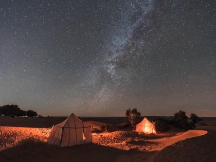 starlit tent | Walking with Nomads