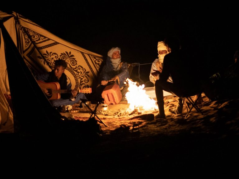 Camp Fire at NIght | Walking with Nomads