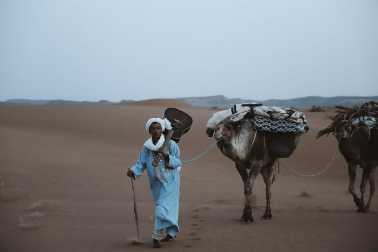 How to experience the real sahara desert Nomad and camels on trek