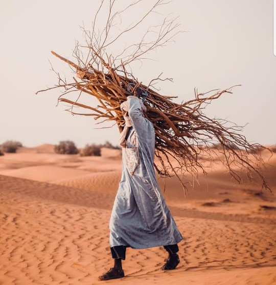 nomad carrying firewood