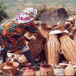 pottery woman Walking with Nomads ECO Tourism