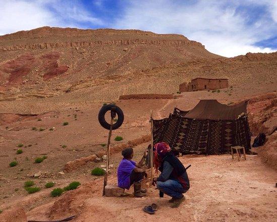 trekking to visit nomads